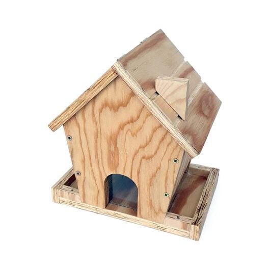 Hrănitoare păsări lemn asamblat
