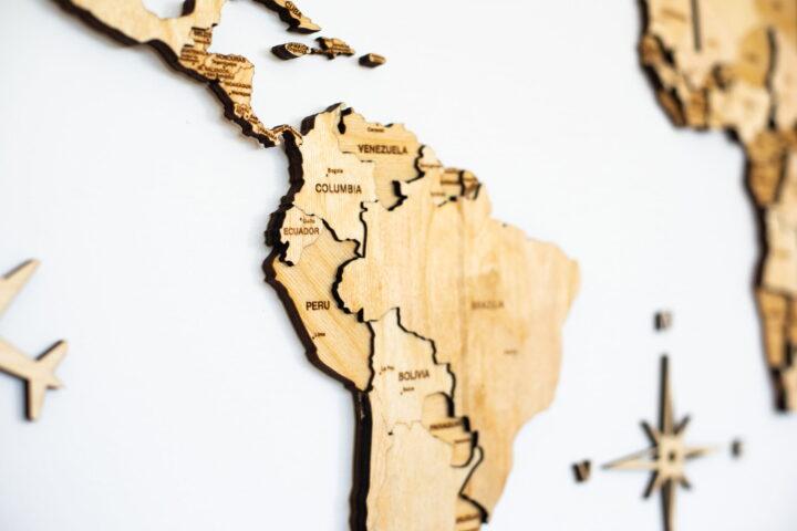 America de Sud puzzle din lemn