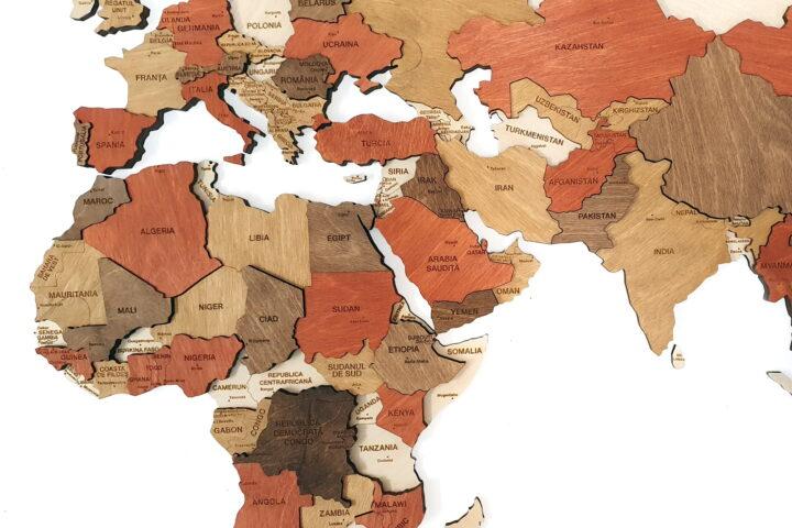 continetul africa lemn